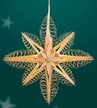 "Wooden Star Light Wall or Window Decoration by Martina Rudolph, 31 cm (12 1/4"")"