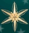 "Wooden Star Wall or Window Decoration by Martina Rudolph, 19 cm (7 1/2"")"