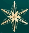 """Wooden Star Wall or Window Decoration by Martina Rudolph, 23.5 cm (9 1/4"""")"""