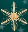 """Wooden Star Wall or Window Decoration by Martina Rudolph, 31 cm (12 1/4"""")"""