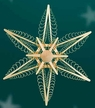 """Wooden Star Wall or Window Decoration by Martina Rudolph, 32 cm (12 3/4"""")"""