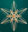"""Wooden Star Wall or Window Decoration by Martina Rudolph, 52 cm (20 1/2"""")"""