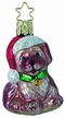 Woof! Christmas Dog Ornament by Inge Glas