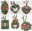Hand Painted Floral Wax Ornaments by K�HN - $12 Each