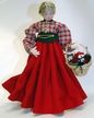 Wax Girl with Red Dress and Braided Hair by Margarete & Leonore Leidel in Iffeldorf