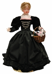 Wax Girl in Black Dress and Braided Hair by Margarete & Leonore Leidel in Iffeldorf