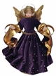 Wax Angel with Purple Rhinestone Dress by Margarete & Leonore Leidel in Iffeldorf