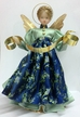 Light Blue with Dark Blue Brocade Apron Wax Angel by Margarete & Leonore Leidel in Iffeldorf