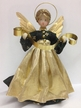 Black and Green Dress with Gold Apron Wax Angel by Margarete & Leonore Leidel in Iffeldorf