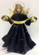 Dark Blue with Rhinestones Wax Angel by Margarete & Leonore Leidel in Iffeldorf