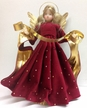 Burgundy with Rhinestones Wax Angel by Margarete & Leonore Leidel in Iffeldorf