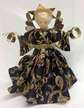 Dark Blue Brocade Wax Angel by Margarete & Leonore Leidel in Iffeldorf