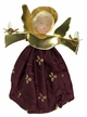 Burgundy Wax Clip-On Angel Ornament by Margarete & Leonore Leidel in Iffeldorf