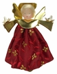 Red Wax Clip-On Angel Ornament by Margarete & Leonore Leidel in Iffeldorf