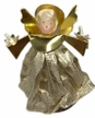 Gold Brocade Wax Clip-On Angel Ornament by Margarete & Leonore Leidel in Iffeldorf