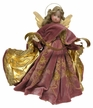 Pink Embroidered Fabric Wax Angel by Margarete & Leonore Leidel in Iffeldorf