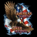 Badass Jewelry American by Birth, Biker by Choice Ladies' White T-shirt