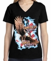 Badass Jewelry American by Birth, Biker by Choice Ladies' Black T-shirt