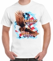 Badass Jewelry American by Birth, Biker by Choice Men's White T-shirt