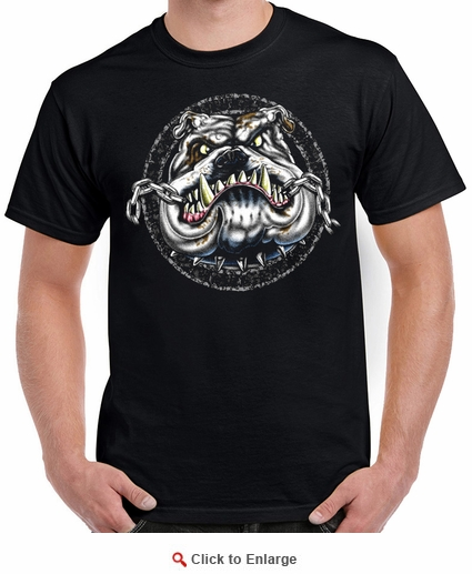 Badass Jewelry Chewing Chain Men's Black T-shirt
