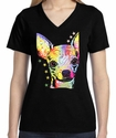 Badass Jewelry Chihuahua Ladies' Black T-shirt