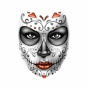 Badass Jewelry Day of the Dead Ladies' White T-shirt