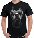 Badass Jewelry Doberman Men's Black T-shirt