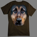 Badass Jewelry German Shepherd Face Men's Black T-shirt