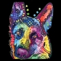 Badass Jewelry German Shepherd Ladies' Black T-shirt