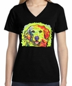 Badass Jewelry Golden Retriever Ladies' Black T-shirt