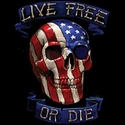 Badass Jewelry Live Free or Die Men's Black T-shirt