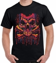 Badass Jewelry Melting Crossbones Men's Black T-shirt