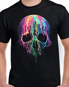 Badass Jewelry Melting Skull Men's Black T-shirt