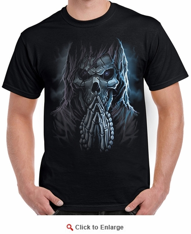 Badass Jewelry Praying Reaper Men's Black T-shirt