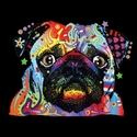 Badass Jewelry Pug Ladies' Black T-shirt