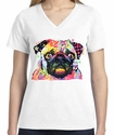 Badass Jewelry Pug Ladies' White T-shirt