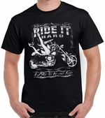 Badass Jewelry Ride It Hard Men's Black T-shirt