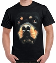 Badass Jewelry Rottweiler Face Men's Black T-shirt