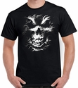 Badass Jewelry Silver Skull Men's Black T-shirt