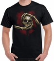 Badass Jewelry Skull Hands Men's Black T-shirt