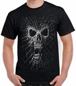 Badass Jewelry Spider Web Skull Men's Black T-shirt