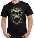 Badass Jewelry Thorn Skull Men's Black T-shirt