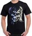 Badass Jewelry Zombie Closeup Men's Black T-shirt