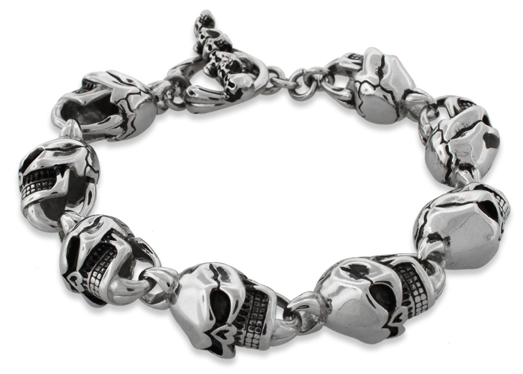 Buy men's designer bracelets from Double Bone®. Choose from skull bracelets to stingray or beaded bracelets handcrafted from the finest materials. Double Bone is an online store who offer Gold Bracelets for Men and Leather Bracelets for Women.