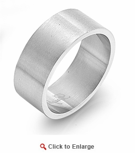 Stainless Steel 10MM Band Ring