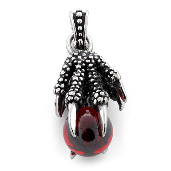 Stainless steel claw crystal ball pendant aloadofball Image collections