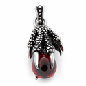 Stainless Steel Claw Crystal Ball Pendant