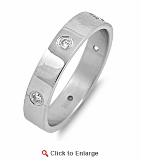 Stainless Steel CZ Band Ring