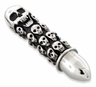 Stainless Steel Multiple Skull Bullet Pendant