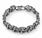 Stainless Steel Reptile Claw Marina Chain Bracelet